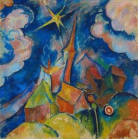 Walter Ophey: Kirche mit Sonne