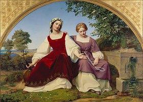 Eduard Bendemann: Die zwei Mädchen am Brunnen