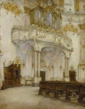Carl Seiler: Das Innere der Klosterkirche Ettal