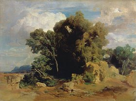 Arnold Böcklin: Landschaft aus den pontinischen Sümpfen (unvollendet)