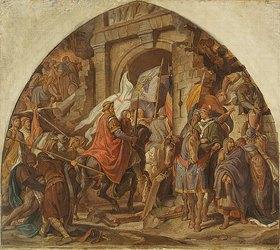 Alfred Rethel: Der Einzug Karls des Großen in Pavia