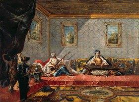 Francesco Guardi: Zwei Odalisken musizieren im Harem