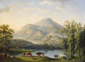 Jacob Philipp Hackert: Veduta d'Itri (Landschaft mit Blick auf Itri)