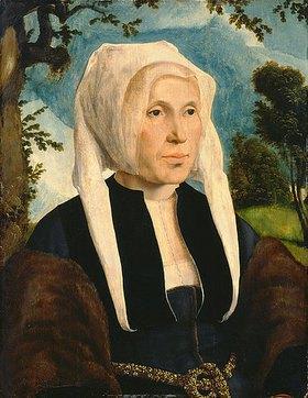 Maerten van Heemskerck: Brustbild einer Frau mit weißer Haube