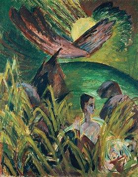 Ernst Ludwig Kirchner: Mondaufgang auf Fehmarn