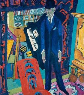 Ernst Ludwig Kirchner: Musikzimmer (Bildnis Botho Gräf)