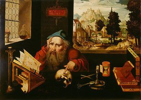 Joos van Cleve: Der heilige Hieronymus im Gehäus