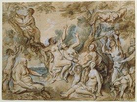 Jacob Jordaens: Nymphen und Satyrn bei der Obstlese