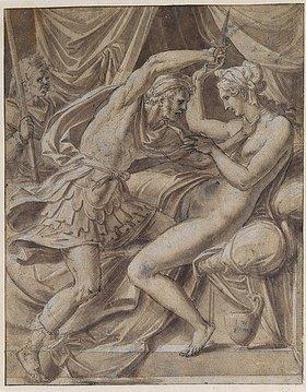 Luca Penni: Lukretia und Tarquinius