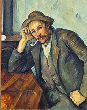 Paul Cézanne: Raucher mit aufgestütztem Arm