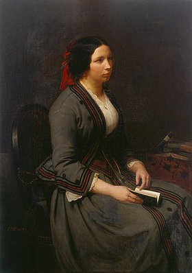 Carl Friedrich Lessing: Bildnis Ida Lessing, geb. Heuser