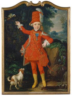 Johannes Justus Borchers: Edelknabe in roter Uniform (Franz Jakob Gabriel von Groote)