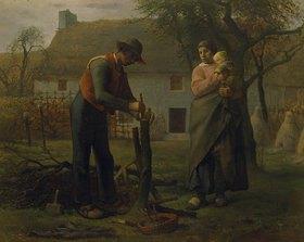 Jean-François Millet: Bauer beim Propfen eines Baumes (Le Greffeur)