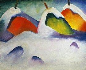 Franz Marc: Heuhocken im Schnee