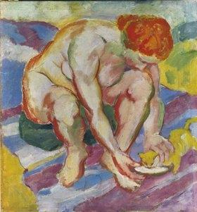 Franz Marc: Akt mit Katze. 1910.