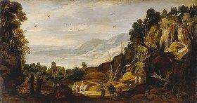 Philippe de Momper: Gebirgslandschaft mit Reitern