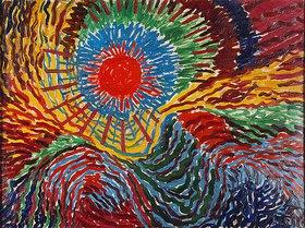 Wilhelm Morgner: Astrale Komposition X (Aufgehende Sonne)