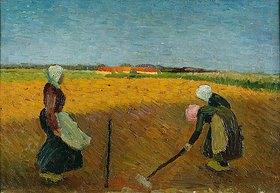 Wilhelm Morgner: Drei Frauenauf abendlichem Feld. / Three women on vespertine Field