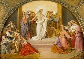 Friedrich Wilhelm von Schadow: Das Gleichnis von den klugen und törichten Jungfrauen (Farbskizze)