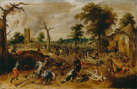 Sebastian Vrancx: Die Plünderung des Dorfes Wommelgen
