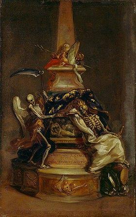 Giuseppe Passeri: Entwurf für ein Memento Mori - Vor dem Tod sind alle gleich. Letztes Viertel 17. Jh