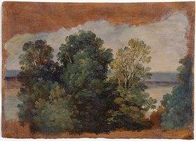 Giuseppe Passeri: Bäume am Wasser (Studie)