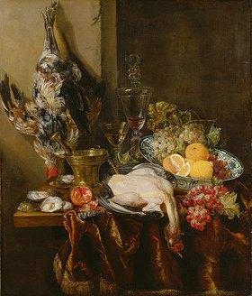 Abraham van Beyeren: Großes Prunkstillleben mit Früchten und Geflügel