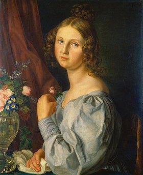 Carl Peter Eckhardt: Bildnis einer jungen Frau