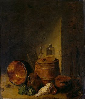 David Teniers: Stillleben mit Hausrat und Gemüse