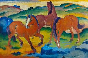 Franz Marc: Die roten Pferde (Weidende Pferde IV.)