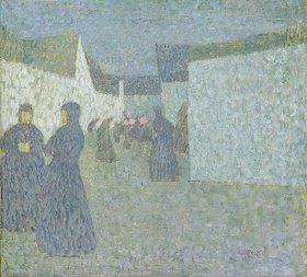 Walter Ophey: Mondnacht in Zons. 1907/1909