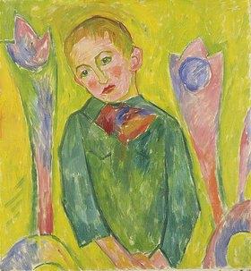 Walter Ophey: Träumendes Kind. 1915-1916