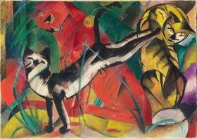 Franz Marc: Drei Katzen