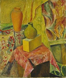 Walter Ophey: Zwei Vasen mit rotem Tuch