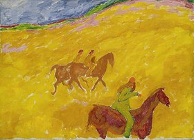 Walter Ophey: Reiter im Sandbruch. Um 1912
