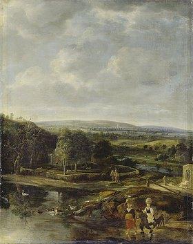 Jan Siberechts: Italianisierende Landschaft mit Staffage
