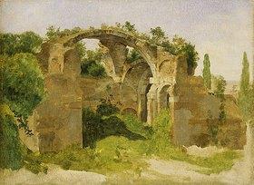 Johann Martin von Rohden: Villa Hadriana bei Tivoli (Frigidarium der großen Therme)