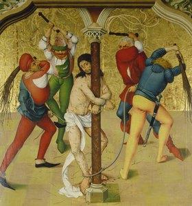 Rueland Frueauf d.Ä.: Passionsaltar: Christus an der Martersäule