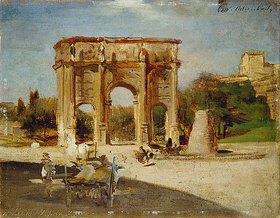 Oswald Achenbach: Der Konstantinsbogen in Rom