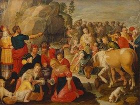 Adam van Noort: Moses schlägt Wasser aus dem Felsen. Letztes Viertel 16. Jh./1. Hälfte 17. Jh
