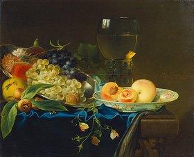 Justus Juncker: Stillleben mit Früchten und Nuppenglas