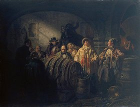 Johann Peter Hasenclever: Die Weinprobe