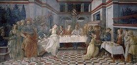 Filippino Lippi: Das Gastmahl des Herodes. Der Tanz der Salomé