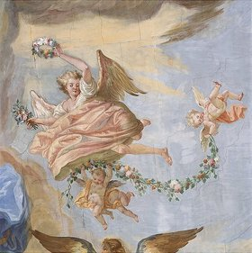Johann Baptist Enderle: Putten mit Blumenkranz