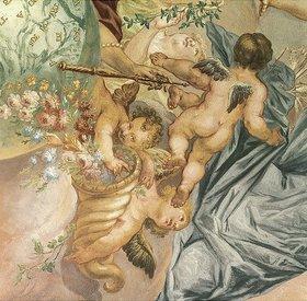 Joseph Anton Merz: Putten mit Blumen