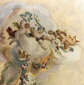 Johann Baptist Zimmermann: Putten (Detail aus einem Fresko)