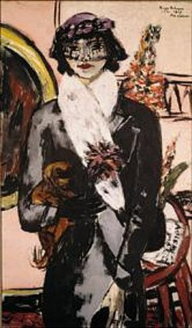 Max Beckmann: Bildnis Quappi mit weißem Pelz