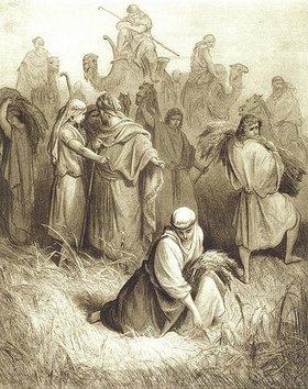 Gustave Doré: Ruth bei der Ährenlese auf den Feldern des Boas