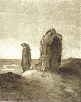 Gustave Doré: Naomi und ihre Schwiegertöchter Ruth und Orpa