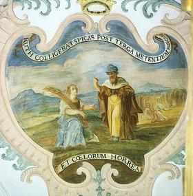 Johann Georg Lederer: Ruth bei der Ährenlese auf den Feldern des Boas. 1733    AT 1.Rut